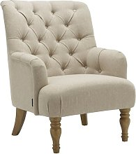 Aimee Armchair Three Posts Upholstery Colour: Wheat