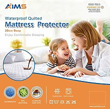 AIMS Waterproof Quilted Mattress Protector Fitted