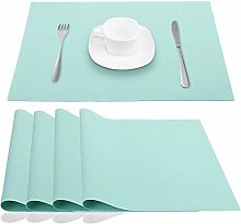 AINIMI Silicone Place Mats Table Placemats, Green,