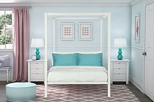 Ainsworth Canopy Bed Blue Elephant Size: Double