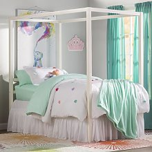 Ainsworth Canopy Bed Blue Elephant Size: Single