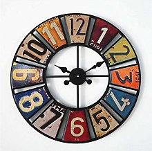 AIOJY 24 Inch Metal Wall Clock Modern Design For