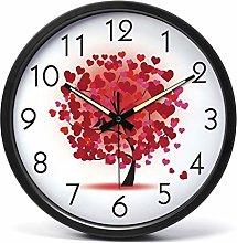 AIOJY Children'S Wall Clock, Red Wall Clock,