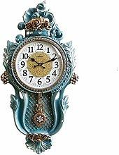 AIOJY Creative European Style Swinging Wall Clock,
