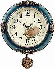 AIOJY Home Wall Clock Retro Clock European Swing