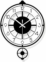 AIOJY Living Room Pendulum Clock Made Of Black And