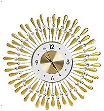AIOJY Luxury Old Clock Wall Clock Living Light