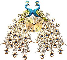 AIOJY Modern Crystal Mural Clock, Luxury Flower