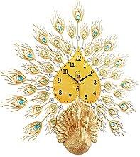AIOJY Modern Peacock Diamond Wall Clock, Metal