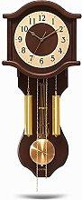 AIOJY Pendulum Wall Clock European Vintage Clock,