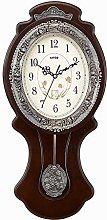 AIOJY Pendulum Wall Clock Solid Wood Antique Retro