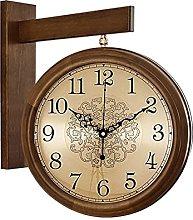 AIOJY Retro Clock Wall Clock Double-Sided Solid