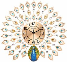 AIOJY Wall Clock 3D Quartz Peacock Wall Clocks