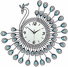 AIOJY Wall Clock Living Room Peacock Clock Nordic