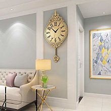 AIOJY Wall Clock, Pendulum Clock Stainless Steel