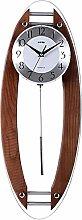 AIOJY Wall Clock Retro Simulated Wooden Pendulum
