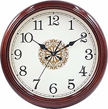 AIOJY Wall Clock Wall Clock Silent, Solid Wood,
