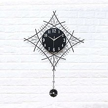 AIOJY Wall Clock Wall Clock Silent Sweep, Metal