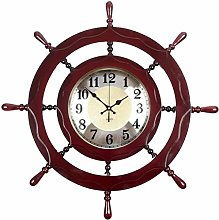 AIOJY Wall Clock Wall Clock Wood Boa