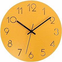 AIOJY Wall Clock Wood Clock Living Room Bedroom