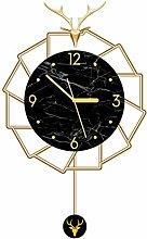 AIOJY Wall Clocks European Style Metal Round Wall