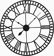 AIOJY Wall-Mounted Wall Clock Retro Mute Quartz
