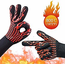 Aiqulai Oven Gloves, Oven Gloves Double Heat