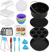 Air Fryer Accessories,7 inch 130-Piece Set with