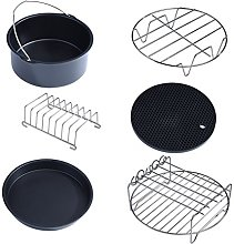 Air Fryer Accessories Sets, 6 in 1 Multifunctional