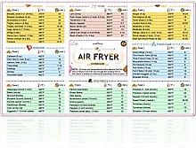Air Fryer Cooking Chart Fridge Magnets Accessories