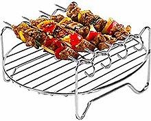 Air Fryer Rack, Air Fryer Grill with Skewers