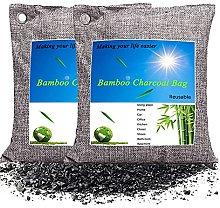 Air purifying Bag(500g*2 Packs), Nature Bamboo
