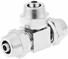 Air Push Quick Fittings 1Pc Brass Tee Quick Fit