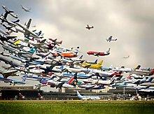 Air Traffic World-50x60cm,DIY 5D Diamond Painting