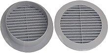 Air Ventilation Plastic Grill Cover Ø100mm/Gray