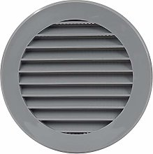 Air Ventilation Plastic Grill Cover Ø125mm/Gray