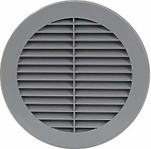 Air Ventilation Plastic Grill Cover Ø150mm/Gray