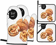 Airmark Oven Mitts and Pot Holders 4pcs Set,Hand