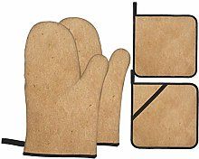 Airmark Oven Mitts and Pot Holders 4pcs Set,Paper