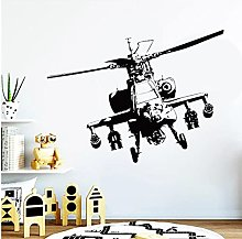 Airplane Plane Wall Decal Army Large Helicopter
