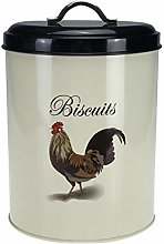 Airtight Biscuit Canister Cookie Storage Tin Cream