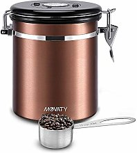 Airtight Coffee Canister,Movaty Stainless Steel