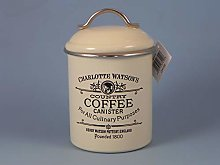 Airtight Tin Coffee Canister by Charlotte Watson