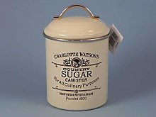 Airtight Tin Sugar Canister by Charlotte Watson