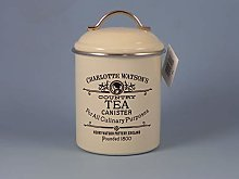 Airtight Tin Tea Canister by Charlotte Watson