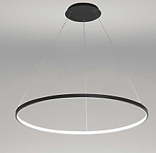 AIRUI 1-Light Circle Pendant Light,LED Metal
