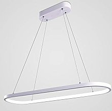 AIRUI Oval LED Pendant Light Modern Aluminum