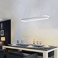 AIRUI Oval LED Pendant Light Modern Aluminum