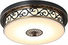 AIRUI Vintage Round Ceiling Light Glass Lamp Shade