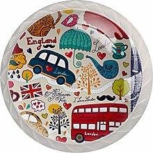 AITAI イギリス 雨 くるま Round Cabinet